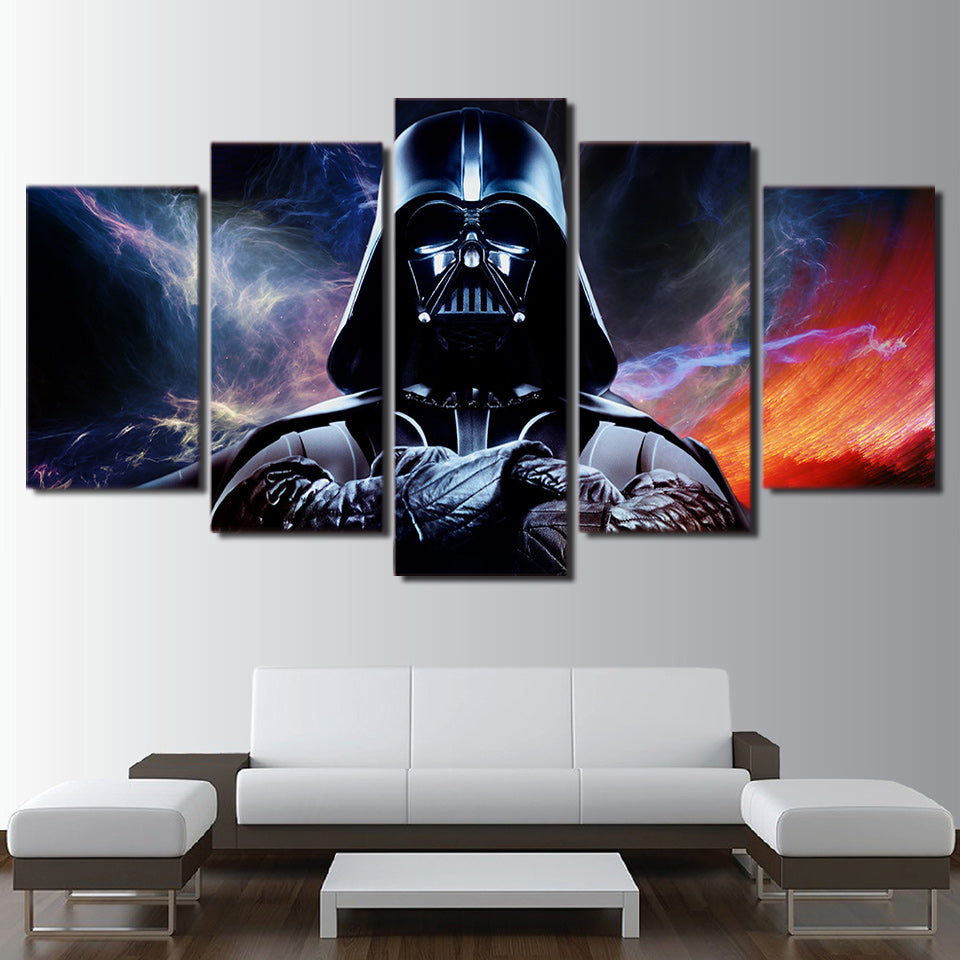 Hd printed 5 piece canvas art star wars painting star wars canvas wall art livingroom decor canvas art free shipping