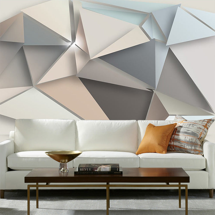 Large Geometry Abstract 3d Wall Murals Wallpaper For Sofa
