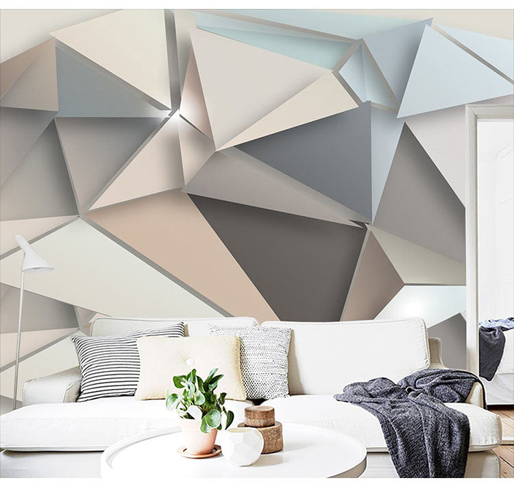 Large Geometry Abstract 3d Wall Murals Wallpaper For Sofa Background Living Room 3d Papel Murals Wall Paper 3d Wall Stickers