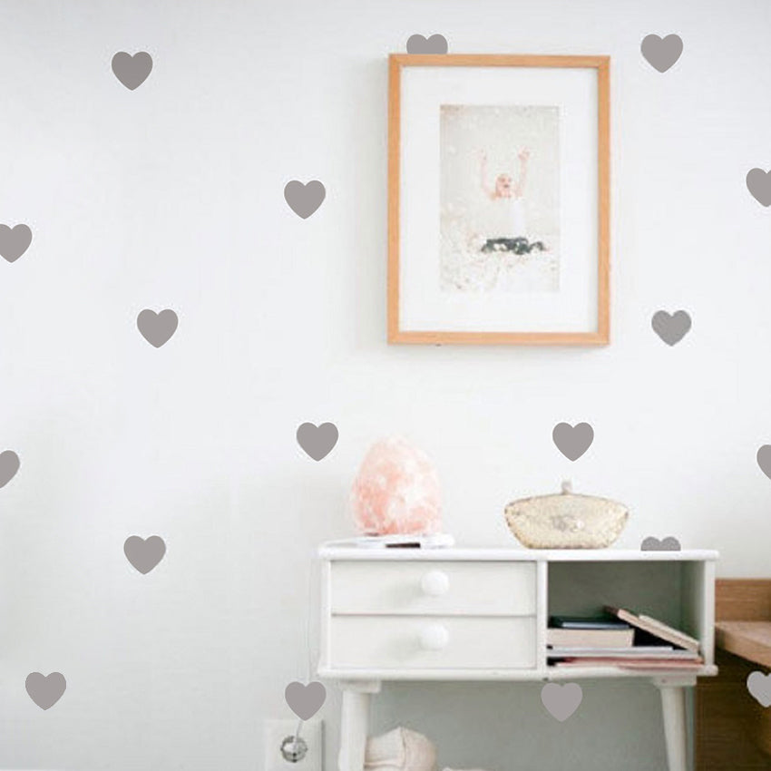 Little Hearts Wall Stickers Wall Decals Removable Home Decoration Art Wall Decals Free Shipping