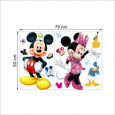 . Mickey Mouse Wall Stickers Sticker Decorative Kids Boys Girls DIY Bedroom  Wall Decor Decal Home Art Mural Wallpaper