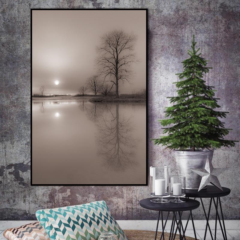 Nordic abstract art print tree pictures canvas painting creative Natural poster