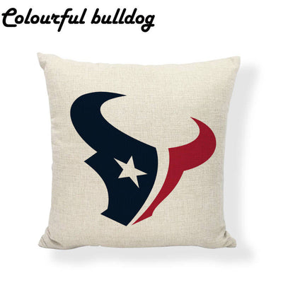 NFL Cushion Cover American Football Pillowcase Famous Sports Simple Decorative Sports Pillows