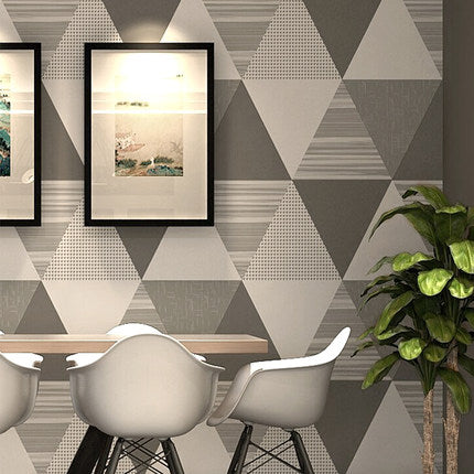 PAYSOTA Caribbean Style Nordic Gray Geometric Pattern Living Room Wallpaper  Modern Bedroom TV Background Wall Paper Roll