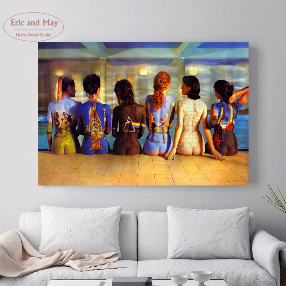 Pink Floyd Music Nude Women Canvas Art Print Painting Poster Wall