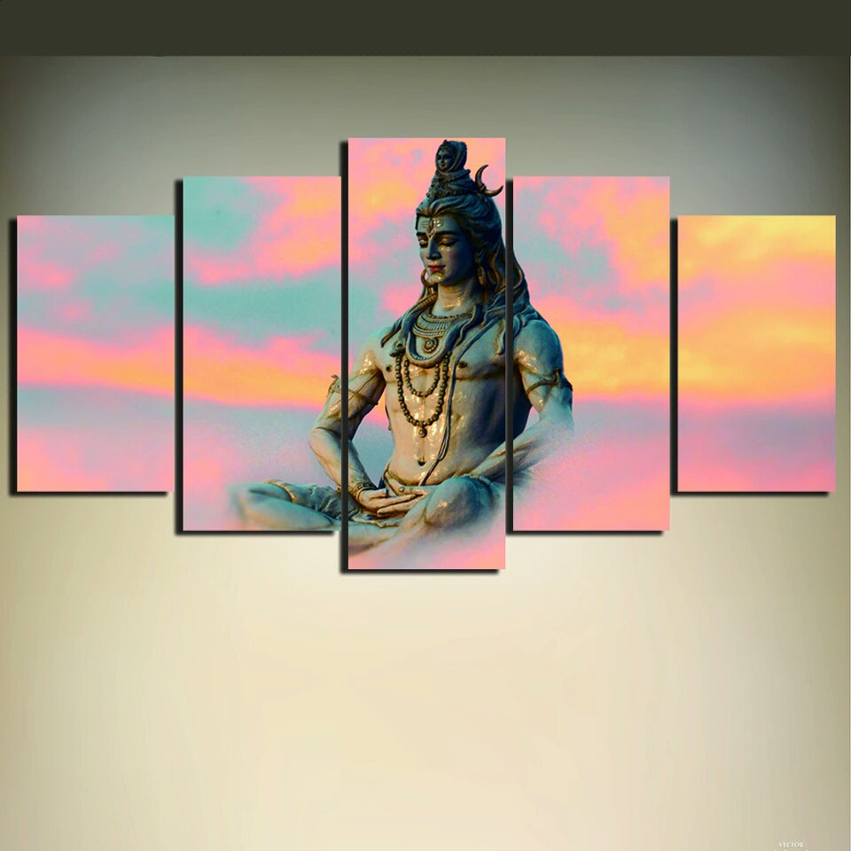Shiva India Lord Religion Buddha Canvas Art Unframed Painting Modern  Artwork Living Room Decor Cheap And High Quality Printings