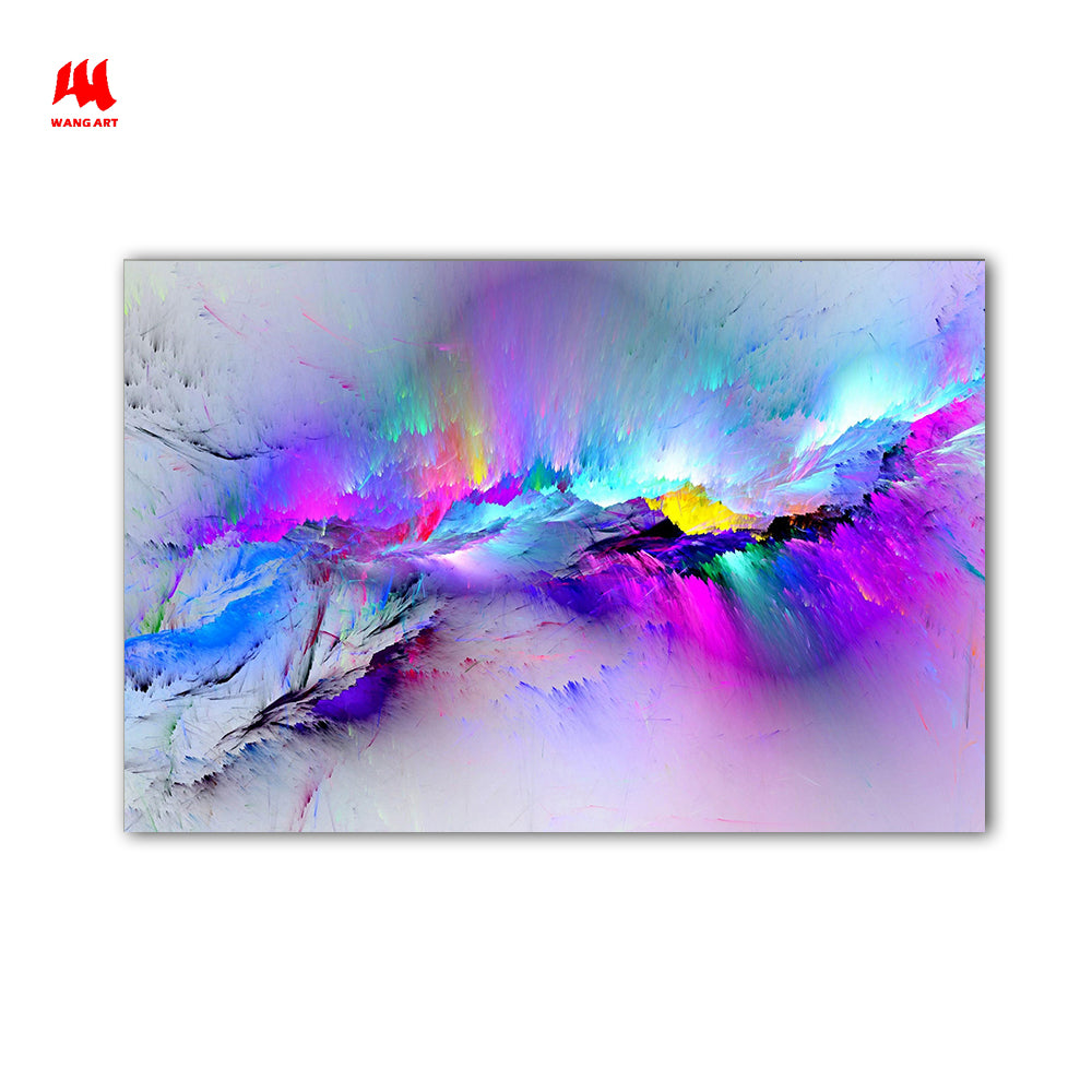 Wangart Abstract Painting Oil Painting Wall Pictures For Living Room Home Decor Abstract Clouds Colorful Canvas Art No Frame