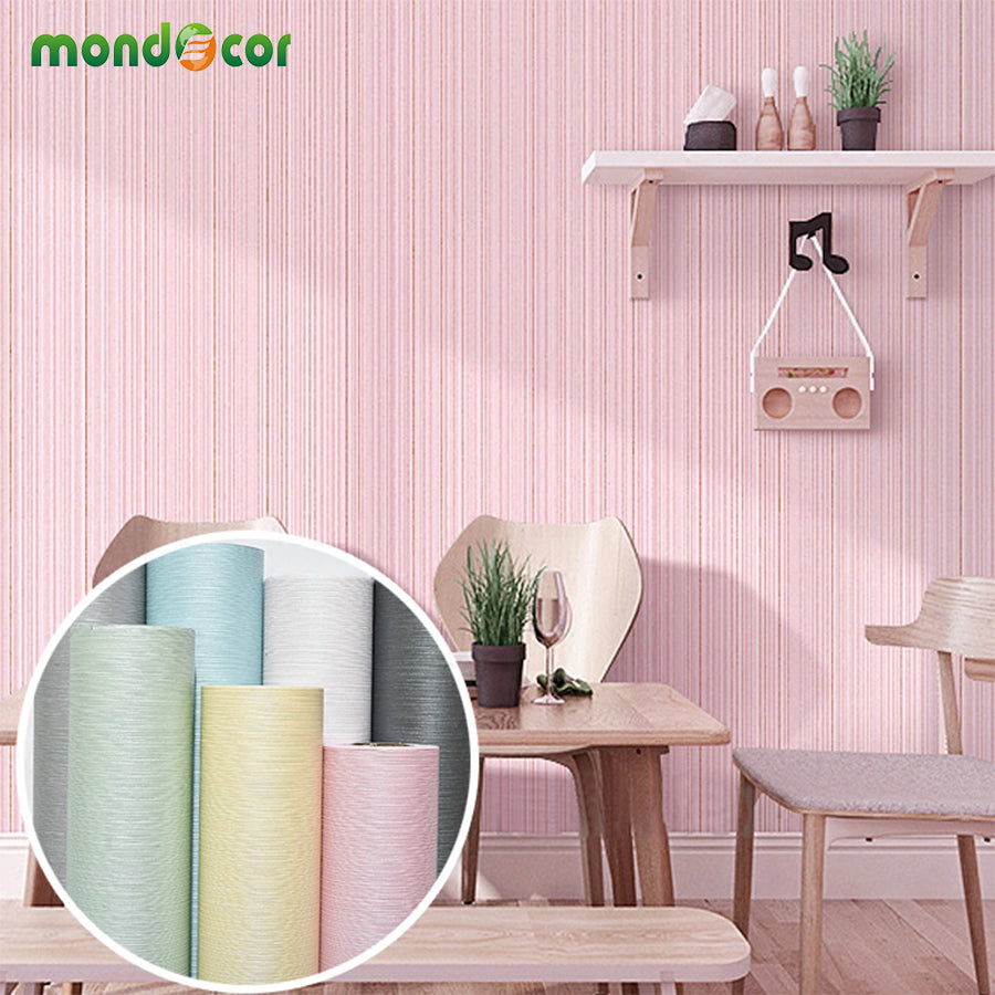 Waterproof pvc self adhesive wallpaper for living room tv backdrop solid striped wallpaper sticker bedroom wall paper home decor