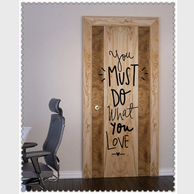 You Must Do What Love DIY Wall Sticker Motto Proverbs Removable Wallpaper Living Room Bedroom Minimalism Home Decal