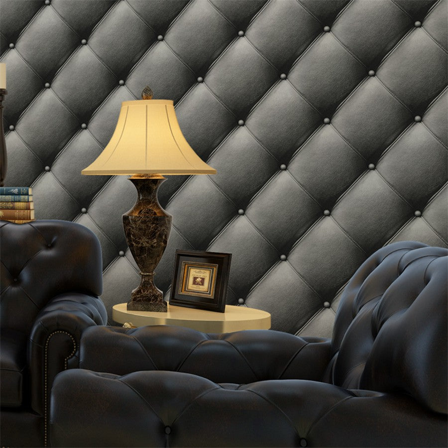 Beibehang Luxury Leather Papel De Parede 3d Wall Paper Modern