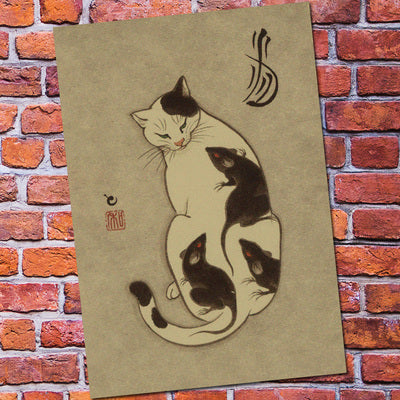vintage poster retro wall art sticker painting living room ...