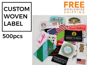 Custom Woven Labels (Artwork) Damask Quality 500pcs - Free Worldwide Shipping -
