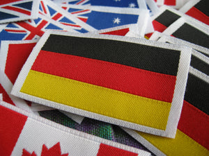 50pcs High Quality Damask German Flag Woven Label