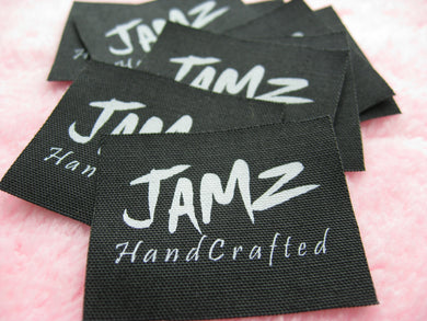 Custom Printed Cotton Taffeta Label 1,000pcs *Screen Print Process* *Free Global Shipping*