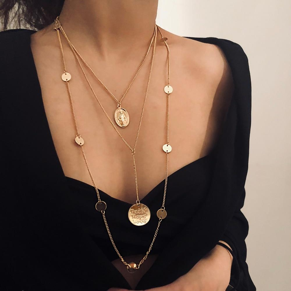 Collier long look Bohême chic