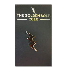 Golden Bolt Lapel Pin