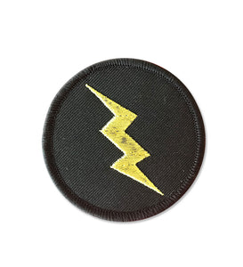 Golden Bolt Embroidered Patch