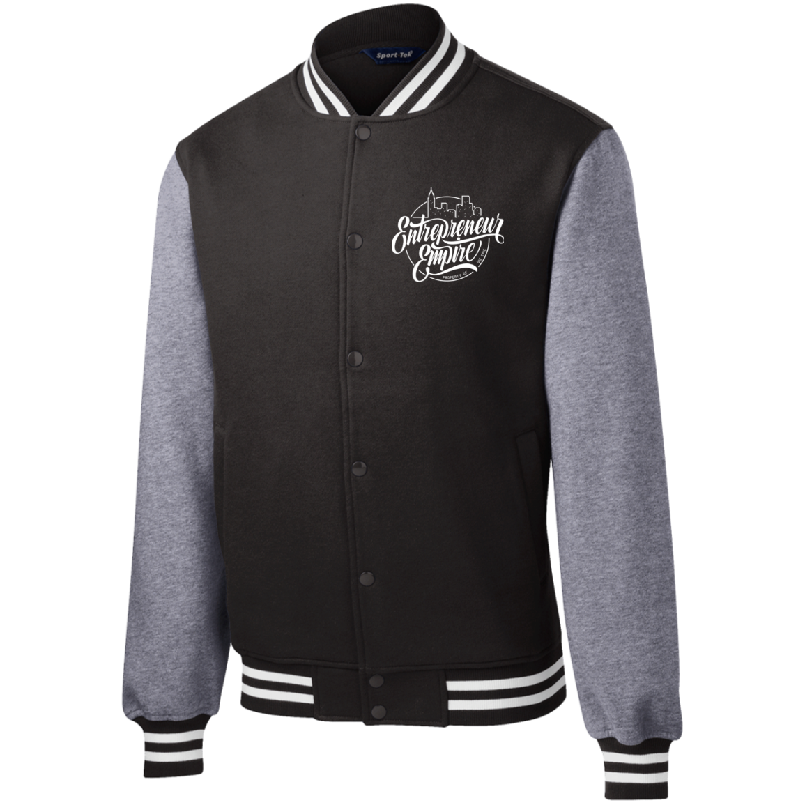 Entrepreneur Empire Fleece Letterman Jacket | Entrepreneur Apparel & Gear | Entrepreneur Empire