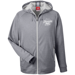 Entrepreneur Empire  Men's Heathered Performance Hooded Jacket | Entrepreneur Apparel & Gear | Entrepreneur Empire