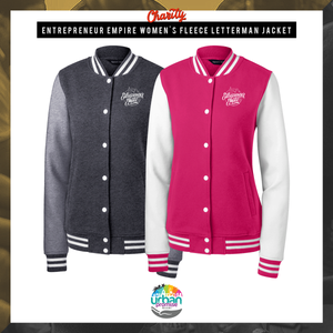 Entrepreneur Empire Women's Fleece Letterman Jacket | Entrepreneur Apparel & Gear | Entrepreneur Empire