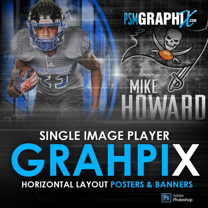 Player Banners & Posters Horizontal Photoshop Templates