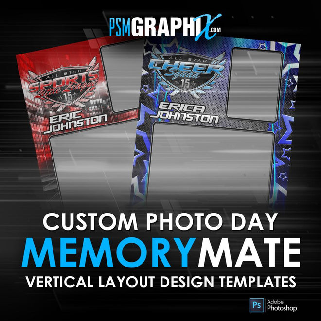 Sports Memory Mates - Vertical Photoshop Templates