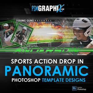 Sports Action Drop In Panoramic Templates