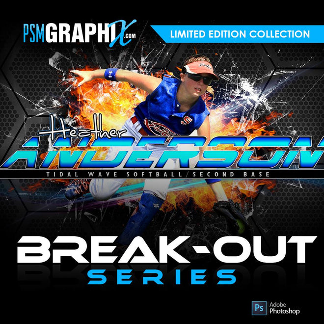 Breakout Series Sports Photoshop Templates