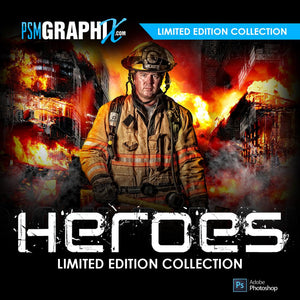 Heroes Serve & Protect Custom Photoshop Template Series
