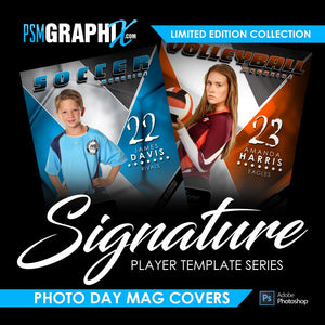 Signature Player Series - Sports Magazine Cover Templates