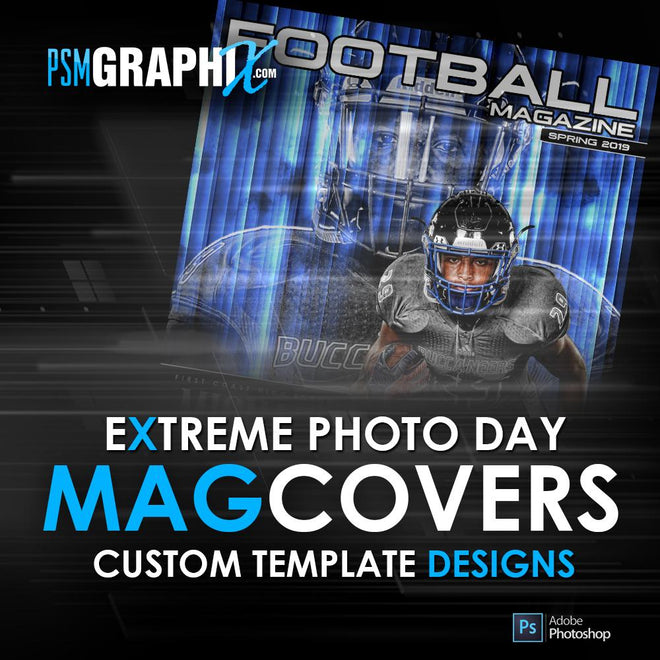 Sports Magazine Cover Photoshop Templates
