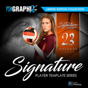 Signature Player Series - Player Photoshop Templates