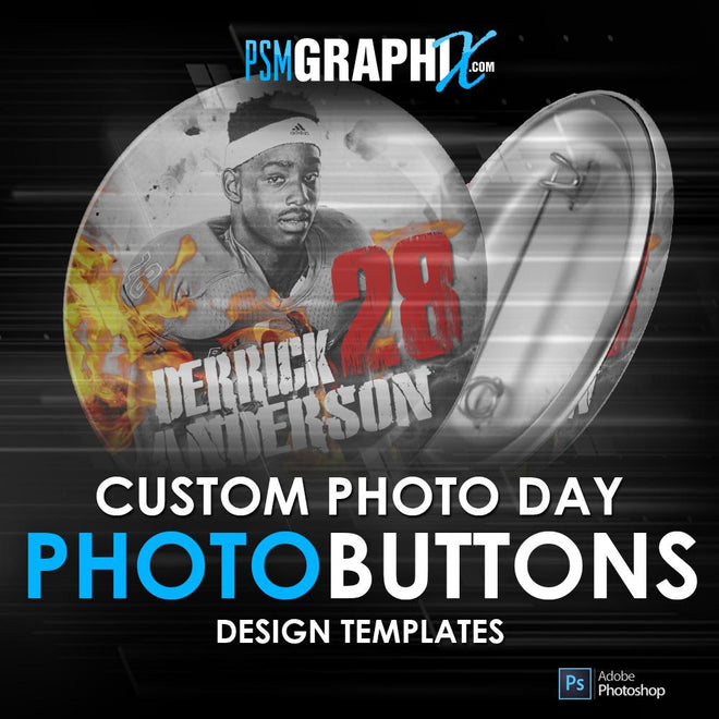 Sports Button Photoshop Templates for T&I