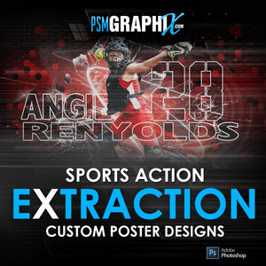 Action Extraction Poster Photoshop Templates