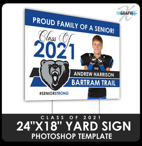 "Class of 2020 - Photo 24""x18"" Yard Sign Template-Photoshop Template - PSMGraphix"