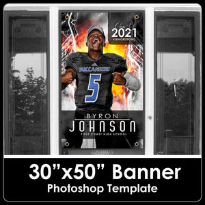 "Class of 2021 - Downtown - 30""x50"" Banner Template-Photoshop Template - PSMGraphix"