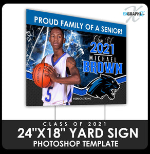 "Class of 2020 - Xtreme - Honeycomb 24""x18"" Yard Sign Template-Photoshop Template - PSMGraphix"