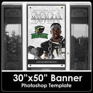 "Class of 2021 - Senior Strong - 30""x50"" Banner Template-Photoshop Template - PSMGraphix"