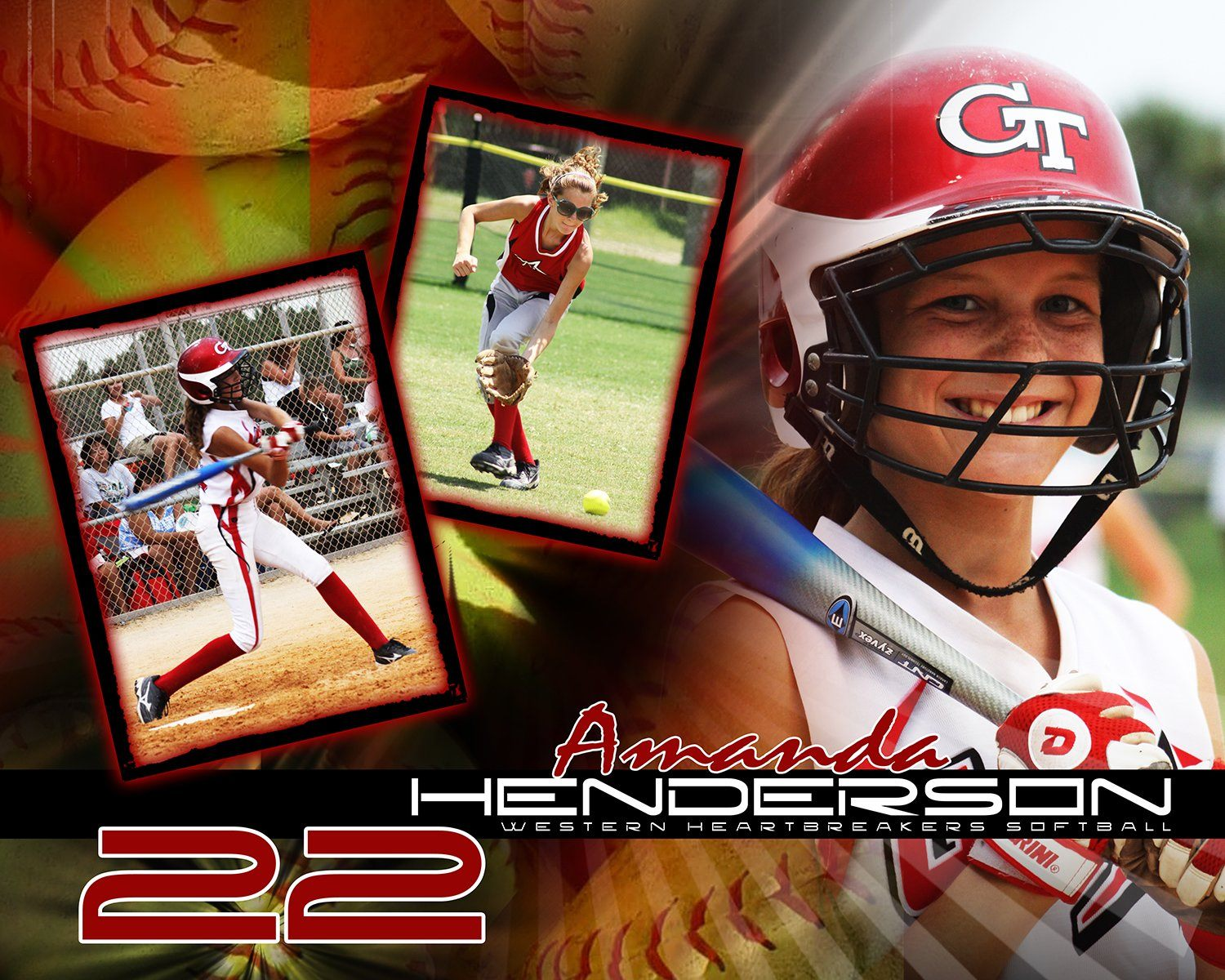 Softball v.5 - Action Drop In Poster/Banner Downloadable Template Photo Solutions PSMGraphix