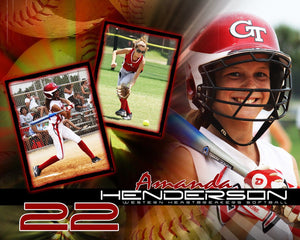 Softball v.5 - Action Drop In Poster/Banner-Photoshop Template - Photo Solutions