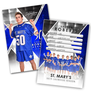 Signature Player - Lacrosse - V2 - Extraction Trading Card Template-Photoshop Template - Photo Solutions