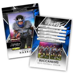 Signature Player - Football - V2 - Drop-In Trading Card Template-Photoshop Template - Photo Solutions