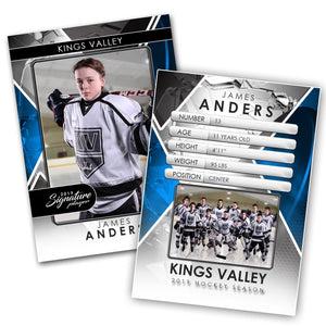 Signature Player - Hockey - V2 - Drop-In Trading Card Template-Photoshop Template - Photo Solutions
