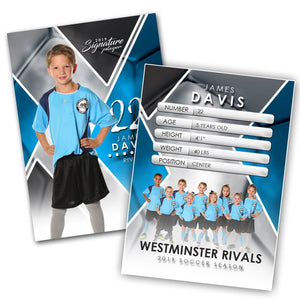 Signature Player - Soccer - V2 - Extraction Trading Card Template-Photoshop Template - Photo Solutions