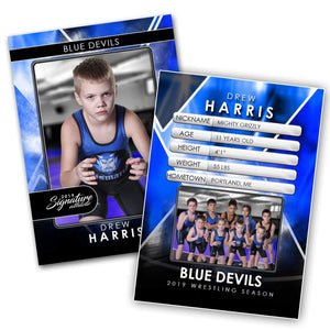 Signature Player - Wrestling - V2 - Drop-In Trading Card Template-Photoshop Template - Photo Solutions