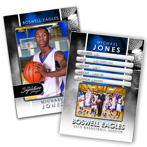 Signature Player - Basketball - V1 - Drop-In Trading Card Template