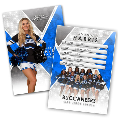 Signature Player - Cheer - V2 - Extraction Trading Card Template Downloadable Template Photo Solutions PSMGraphix