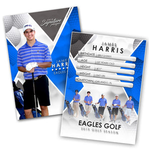Signature Player - Golf - V2 - Extraction Trading Card Template-Photoshop Template - Photo Solutions