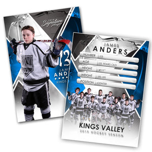 Signature Player - Hockey - V2 - Extraction Trading Card Template-Photoshop Template - Photo Solutions