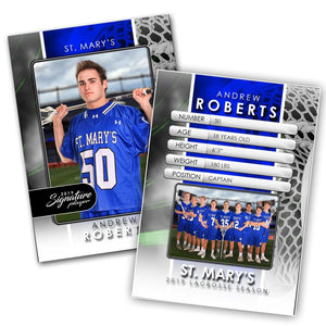 Signature Player - Lacrosse - V1 - Drop-In Trading Card Template-Photoshop Template - Photo Solutions